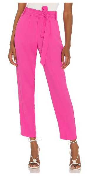 1. STATE satin crepe pant in bright mulberry