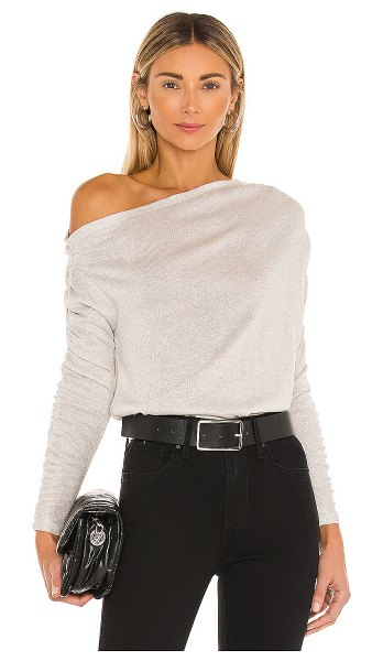 1. STATE sparkle cozy knit sweater in camel heather