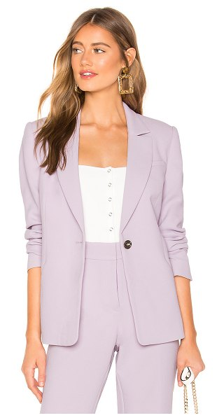 1. STATE textured crepe one button blazer in orchid bud - 1. STATE Textured Crepe One Button Blazer in Lavender. -...