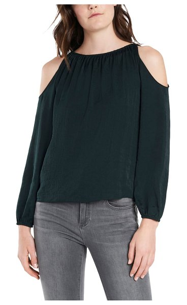 1.State cold shoulder top in night meadow