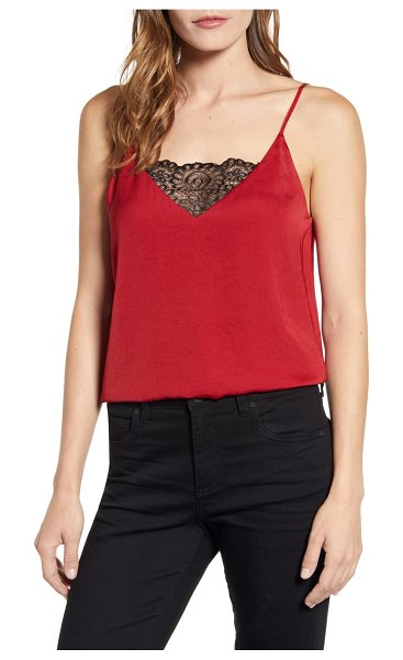 1.State lace inset camisole in spiced apple