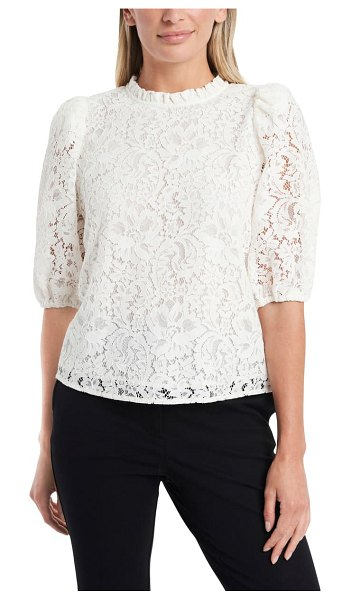 1.State puff sleeve lace top in soft ecru