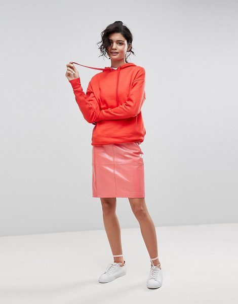 2nd Day 2ndday patent leather pencil skirt in coral - Pencil skirt by 2nd Day, High-shine patent finish, We re...