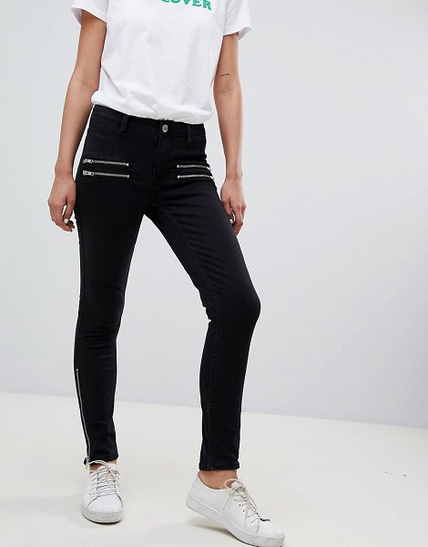 2nd Day 2ndday skinny jeans with zip detail in blackdenim - Jeans by 2nd Day, You can never have too many pairs,...
