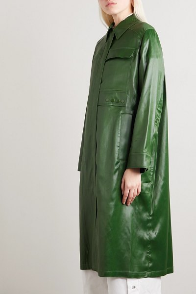 3.1 phillip lim coated-shell coat in army green
