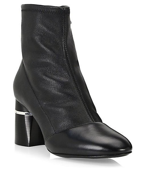 3.1 phillip lim drum leather ankle boots in black