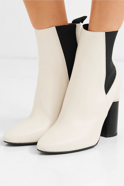 3.1 phillip lim drum leather ankle boots in white