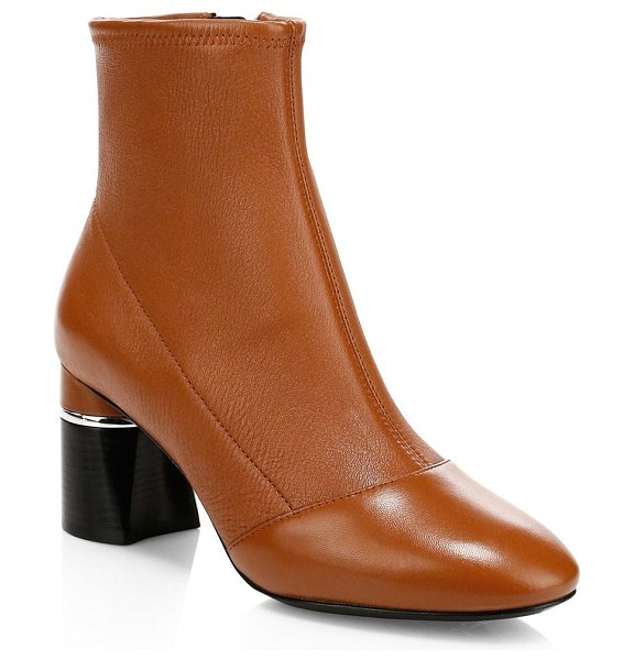 3.1 phillip lim drum leather ankle boots in cognac