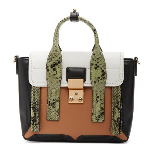 3.1 phillip lim green python mini pashli satchel in gr301 green