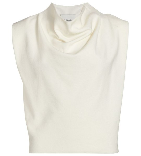 3.1 phillip lim military cowl sleeveless top in cream,midnight