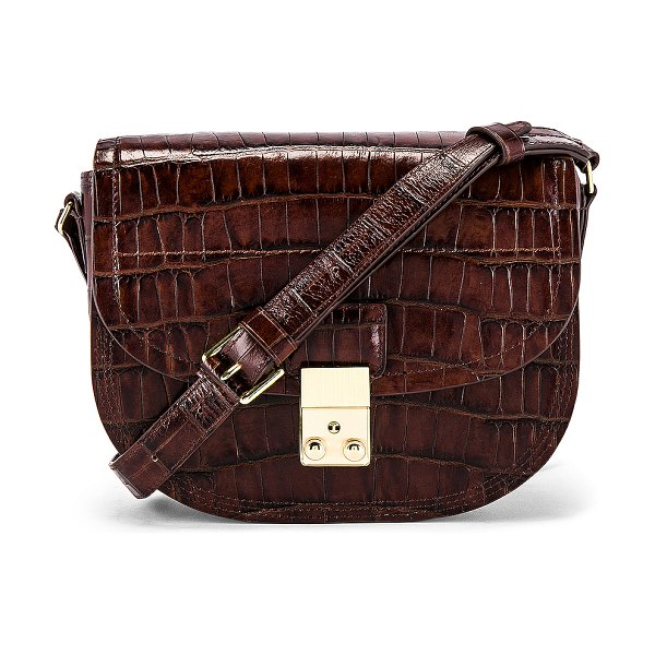 3.1 phillip lim pashli saddle bag in chestnut