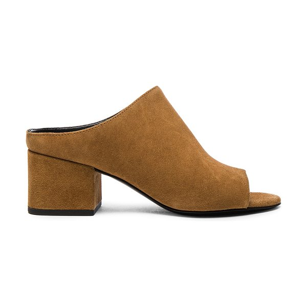 3.1 phillip lim Suede Cube Heels in brown - Suede upper with leather sole.  Made in China.  Approx...