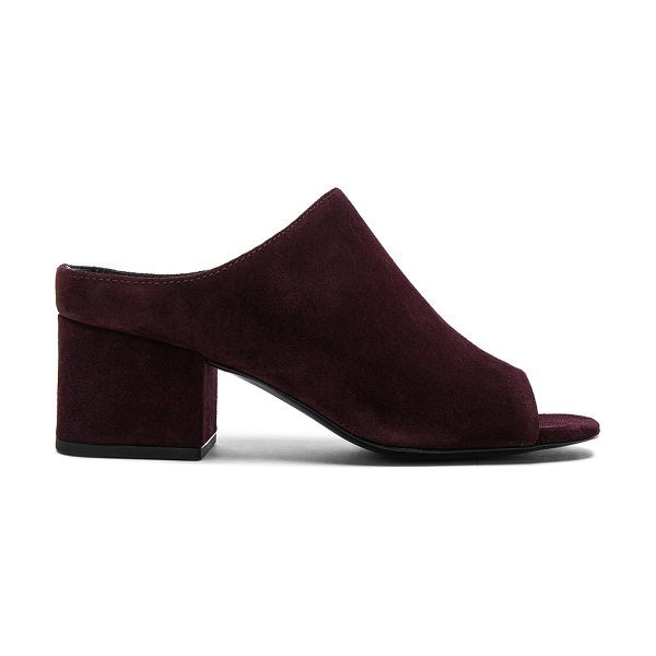 3.1 PHILLIP LIM Suede Cube Open Toe Slip Ons - Suede upper with leather sole.  Made in China.  Approx...