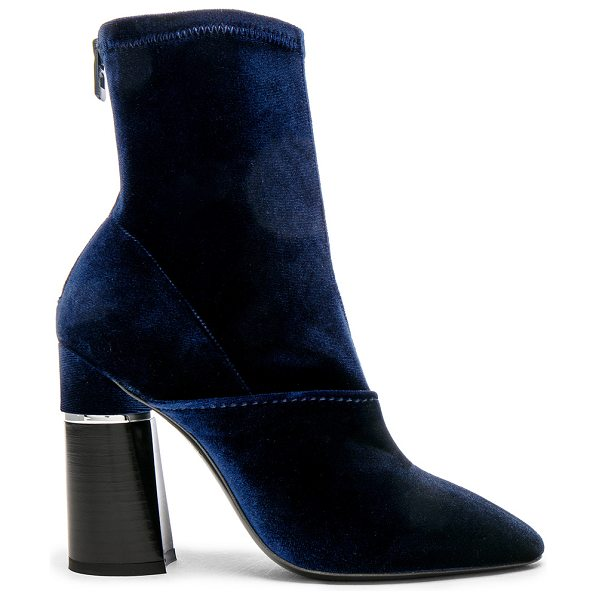 3.1 PHILLIP LIM Velvet Kyoto Boots - Stretch velvet upper with leather sole.  Made in Italy. ...