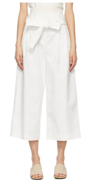 3.1 phillip lim white cropped paperbag trousers in an110 antwhite