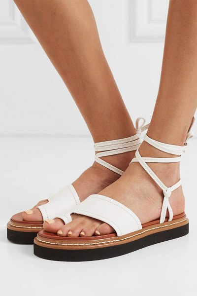 3.1 phillip lim yasmine leather sandals in ivory - I wanted to shed a little bit but keep that nomadic...