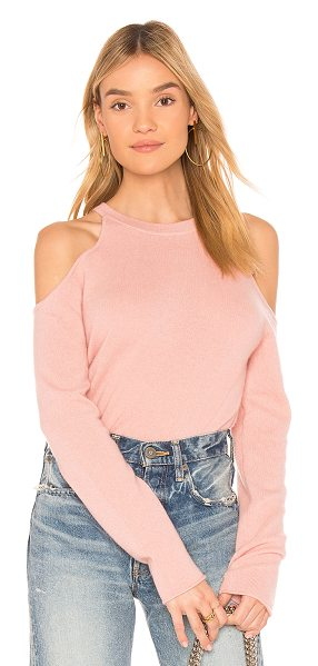 360Cashmere Rosaline Sweater in pink - 100% cashmere. Dry clean only. Shoulder cut-outs....