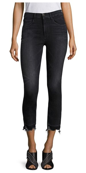 3x1 shelter raw hem cropped straight-leg jeans in prism - High-rise, straight-leg jeans with edgy released hem....