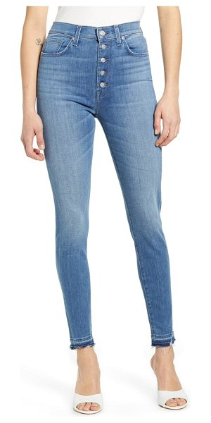 7 For All Mankind 7 for all mankind high waist release hem ankle skinny jeans in shoreline drive destroy