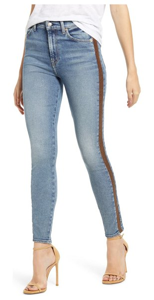 7 For All Mankind 7 for all mankind luxe vintage side stripe high waist ankle skinny jeans in muscopstrp