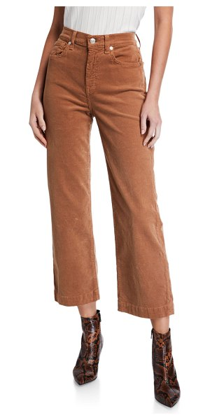 7 For All Mankind Alexa Cropped Wide-Leg Jeans in penny