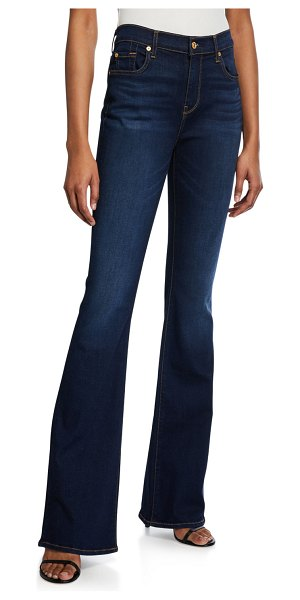 7 For All Mankind Ali High-Rise Dark-Wash Jeans in tried and true
