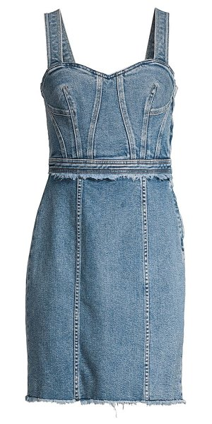 7 For All Mankind fray denim sheath dress in muse