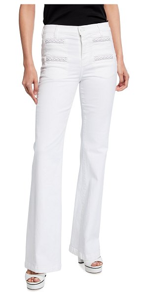 7 For All Mankind Georgia Braided High-Rise Flare Jeans in prince street