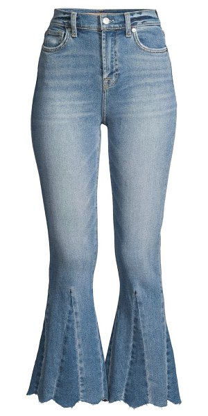 7 For All Mankind high-rise kick flare scallop hem jeans in flora