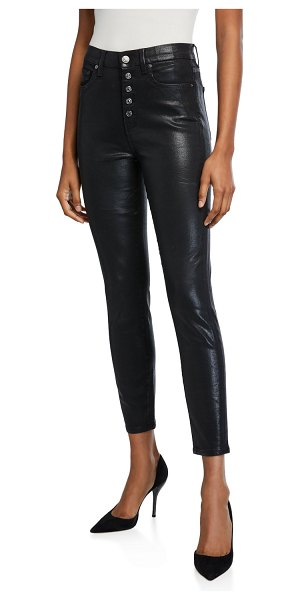 7 For All Mankind High-Rise Skinny Ankle Jeans in b(air) black
