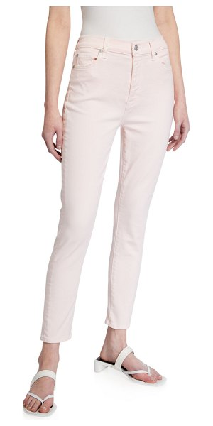 7 For All Mankind High-Rise Skinny Ankle Jeans in solidpink