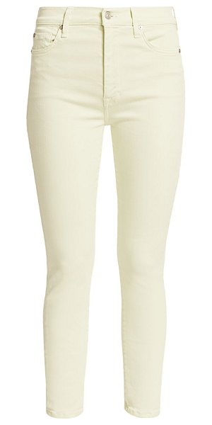 7 For All Mankind high-rise skinny jeans in mint