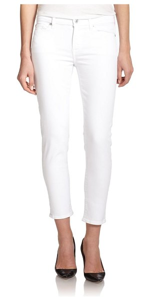 7 For All Mankind kimmie mid-rise cropped jeans in white