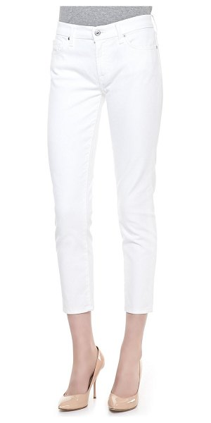 7 For All Mankind Kimmie Straight-Leg Cropped Jeans in clean white