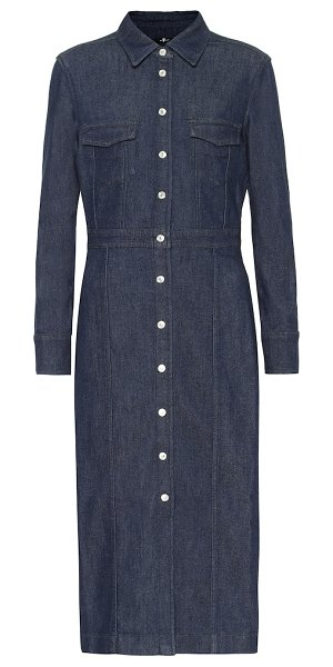 7 For All Mankind luxe denim shirt dress in blue