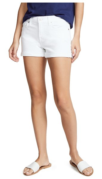 7 For All Mankind roll up shorts in clean white