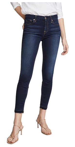 7 For All Mankind the b(air) ankle skinny jeans in tranquil blue