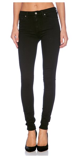 7 For All Mankind the high waist skinny in slim illusion luxe black