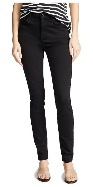 7 For All Mankind the high waist slim illusion luxe skinny jeans in slim illusion luxe black