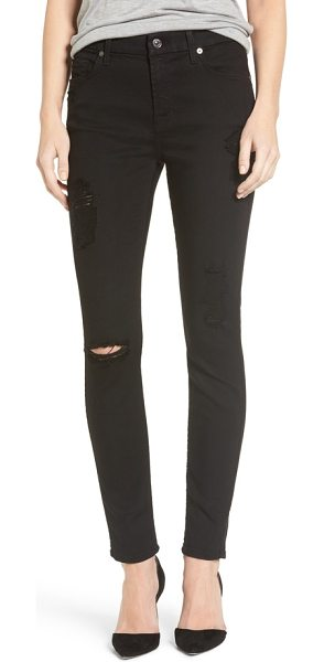 7 For All Mankind 7 for all mankind b(air) ankle skinny jeans in bair black 3