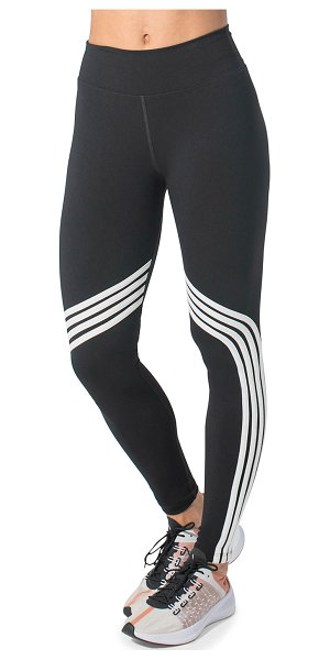 925 Fit Gym and Tone It Striped High Waist Leggings in black