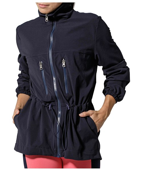 925 Fit Waisted Jacket in navy