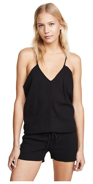9seed corsica cover up romper in black