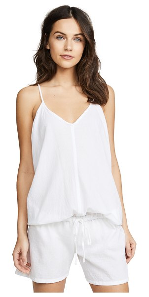 9seed corsica cover up romper in white