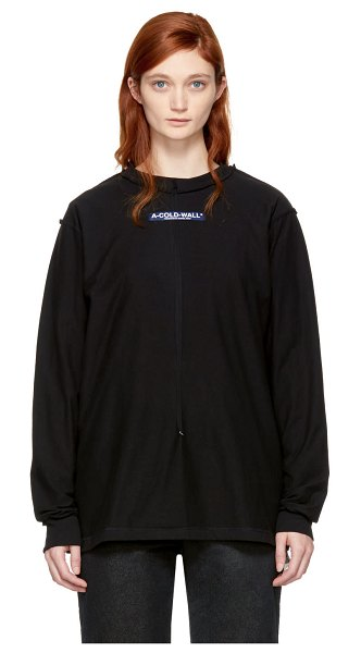 A-cold-wall* Long Sleeve high Performance Window T-shirt in black - Long sleeve cotton jersey t-shirt in black. Exposed...