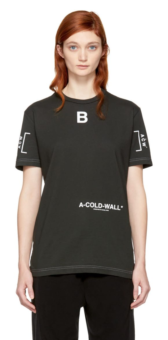 A-COLD-WALL* Signature T-shirt - Short sleeve cotton jersey t-shirt in mud slate grey. Rib...