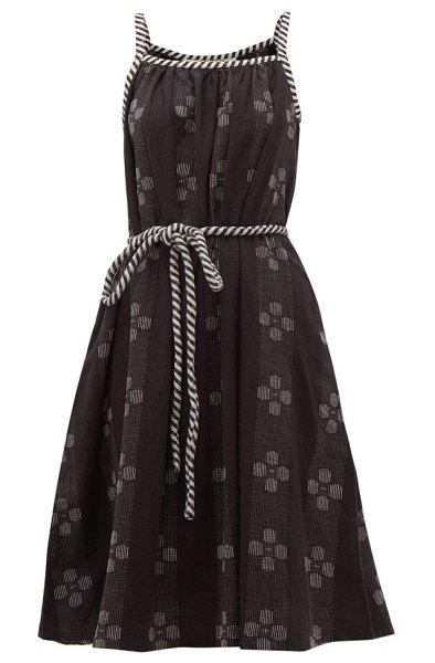 ace & jig noelle belted waist cotton dress in black white - Ace & Jig - Ace & Jig's artisanal pieces, such as this...