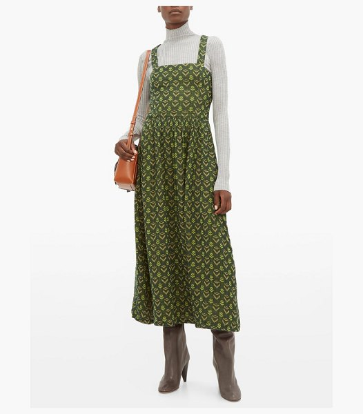 ace & jig willa cross over cotton dress in green multi