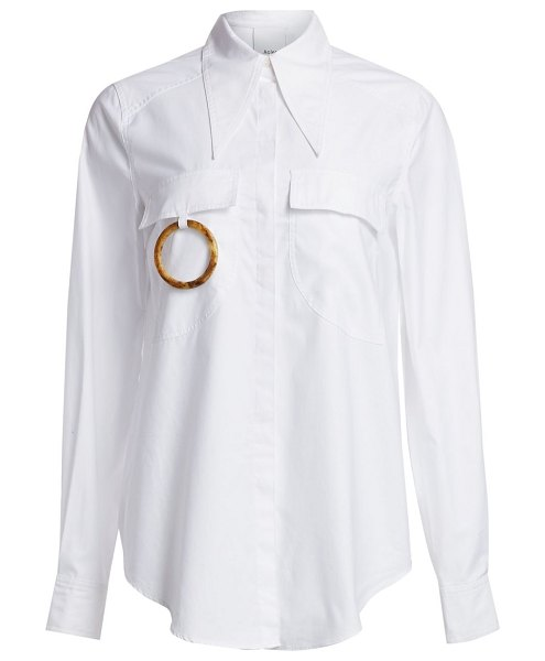 Acler alameda ring cotton shirt in white