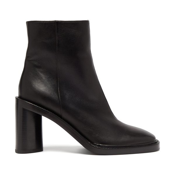 Acne Studios booker square-toe leather ankle boots in black